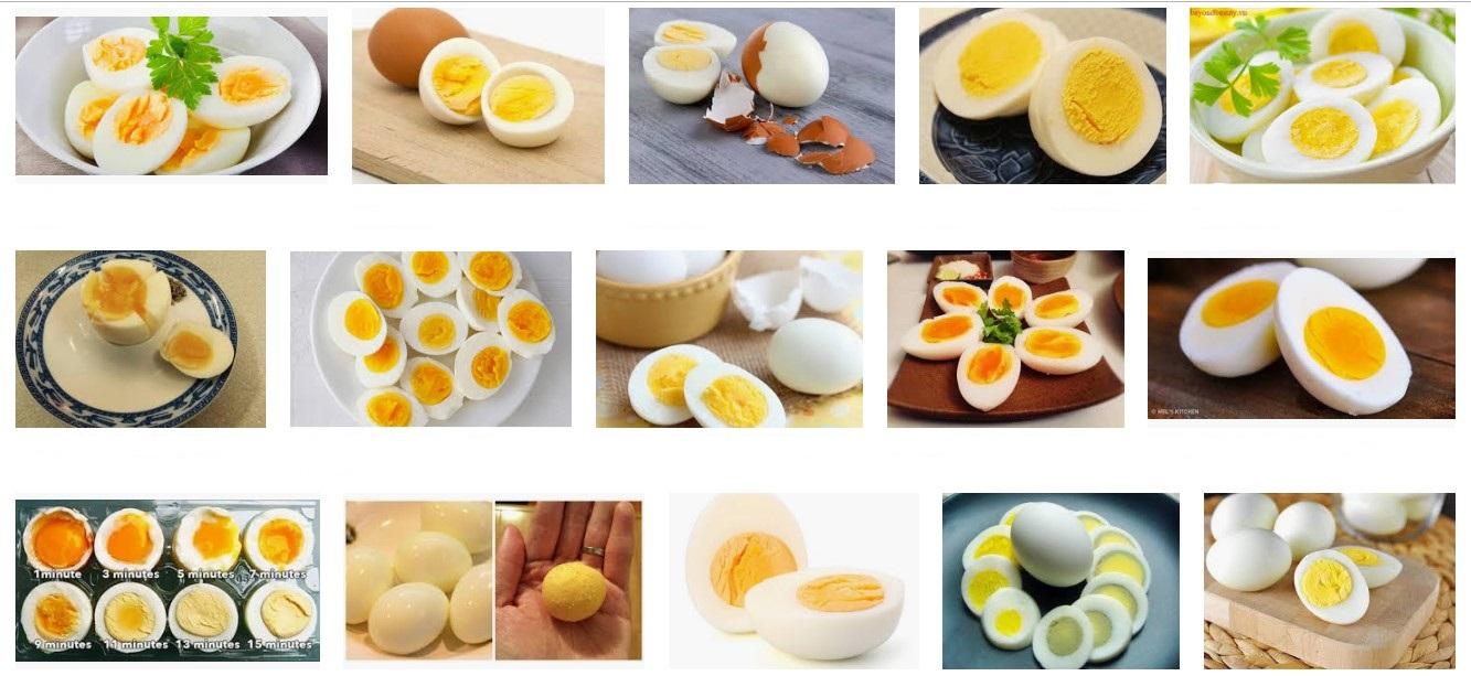 Bạn có thể ăn trứng luộc ngay để tăng vòng 1