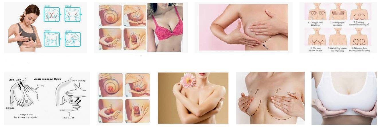 Học ngay cách massage ngực thông thường để nâng ngực nhé