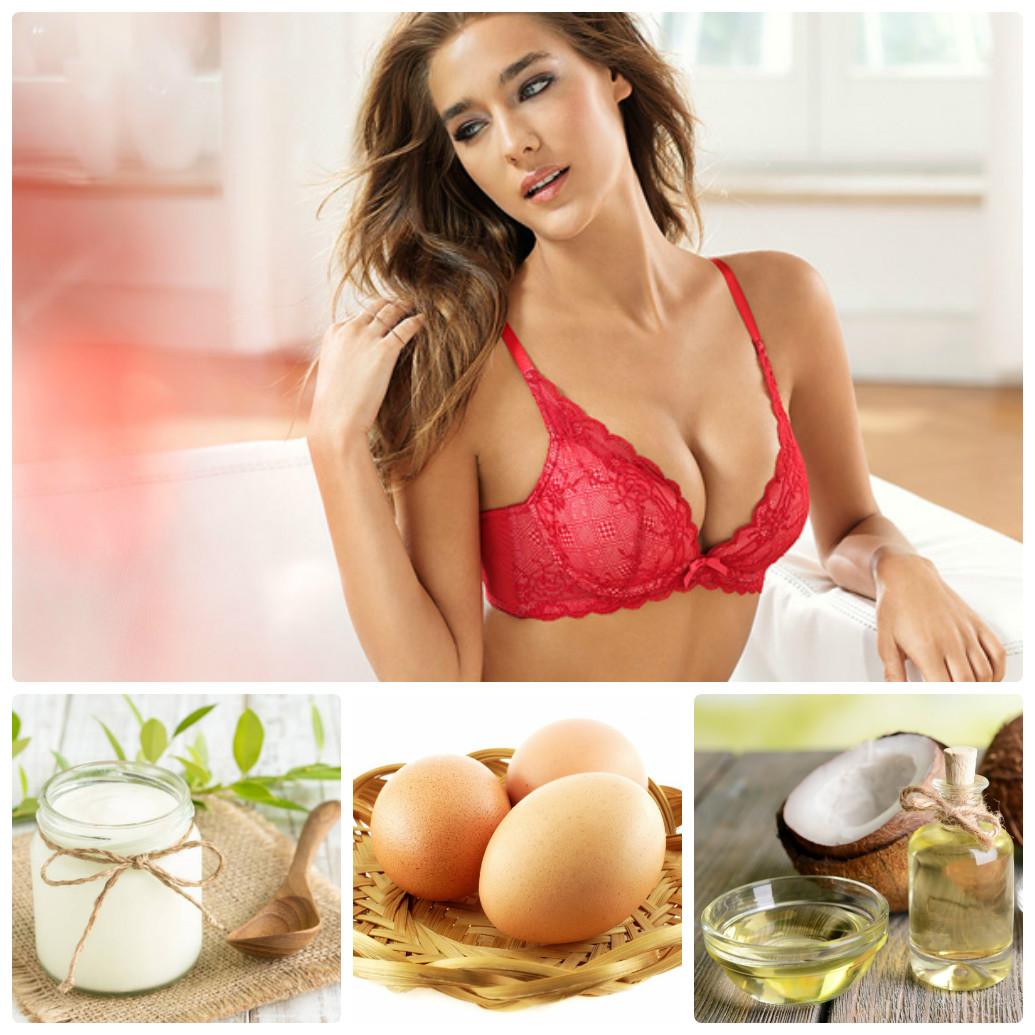 Massage ngực bằng trứng gà, sữa chua, dầu dừa hiệu quả