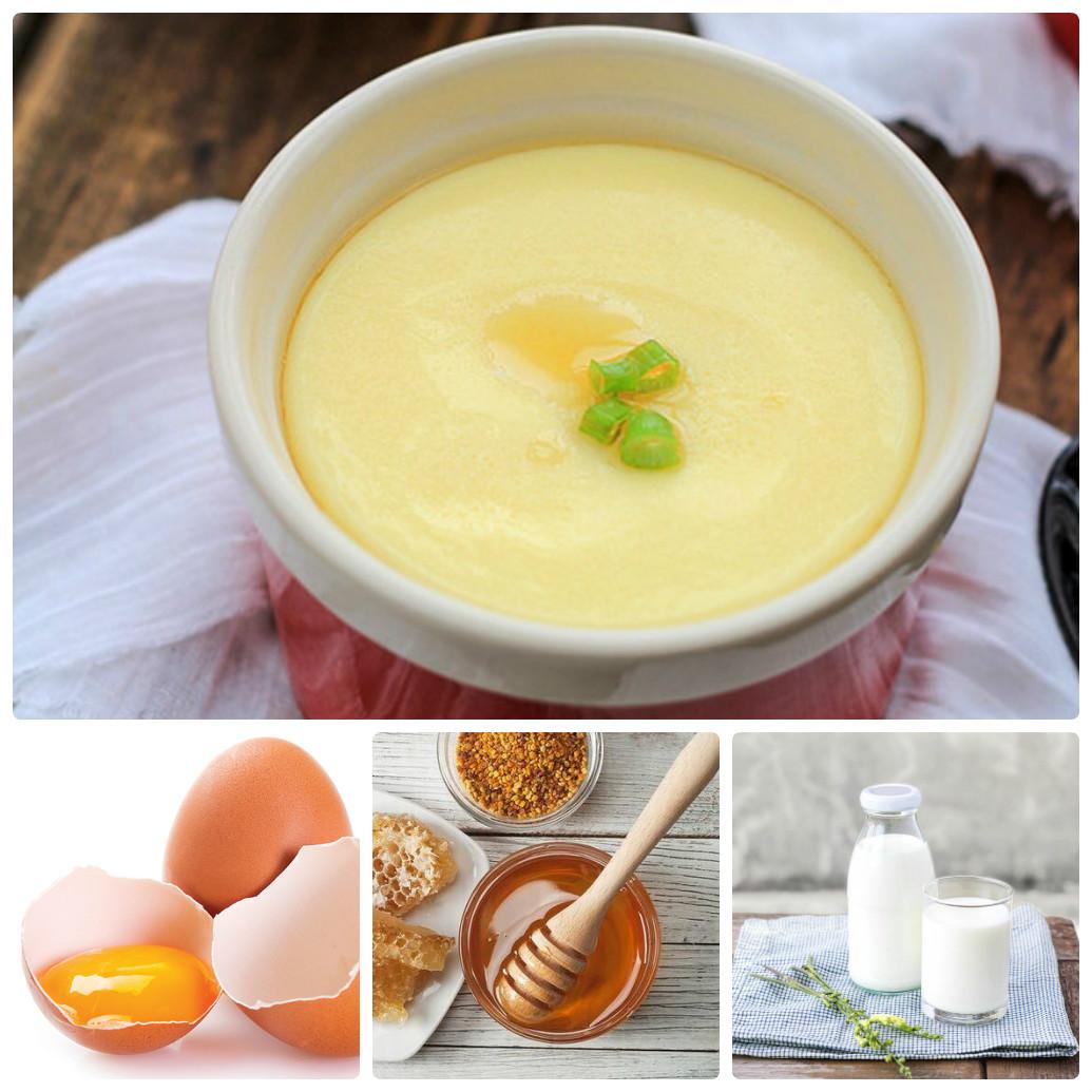 Sử dụng trứng gà, mật ong và sữa để nâng ngực nhé!