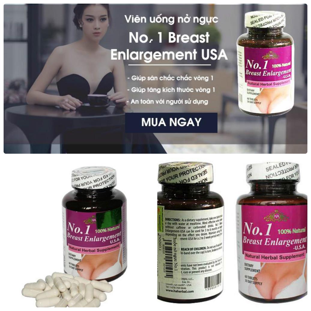 Thuốc tăng vòng 1 No 1 Breast Enlargement xuất xứ từ Hoa Kỳ cũng rất hiệu quả