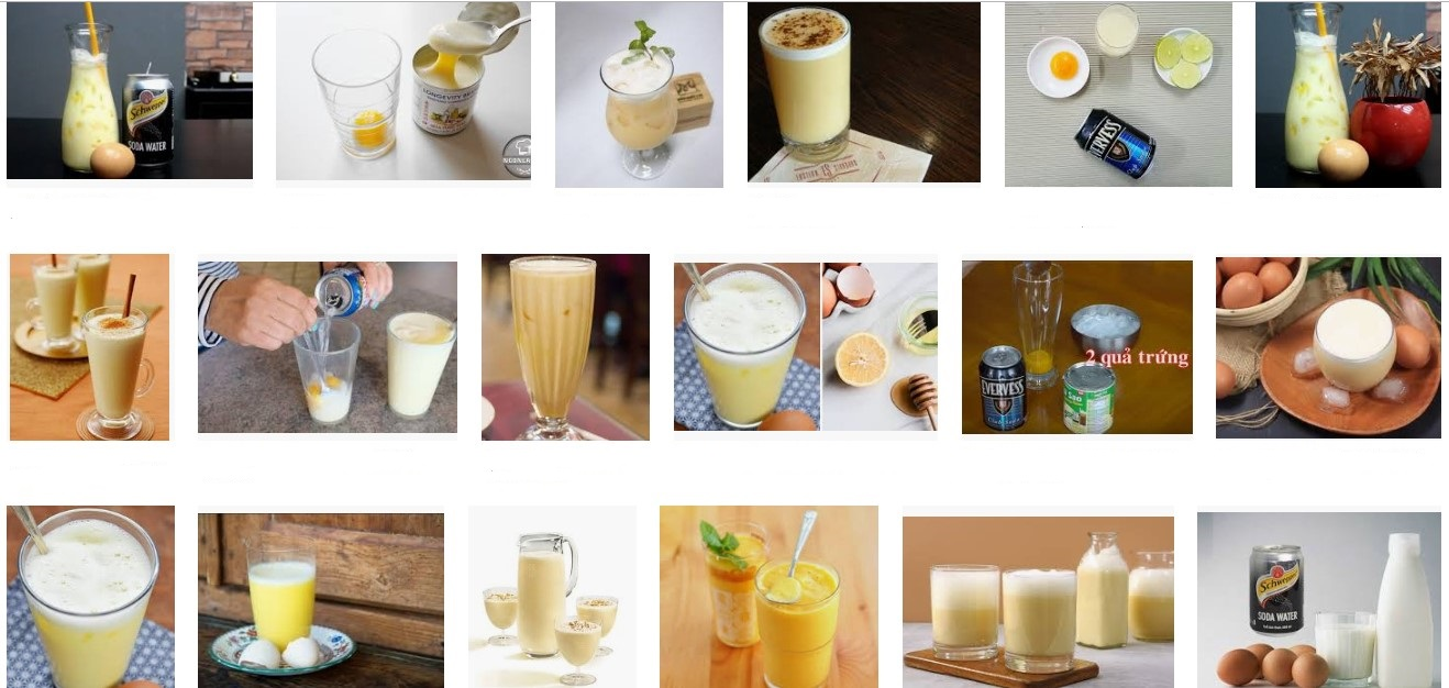 Trứng gà và soda đem lại thức uống hoàn hảo