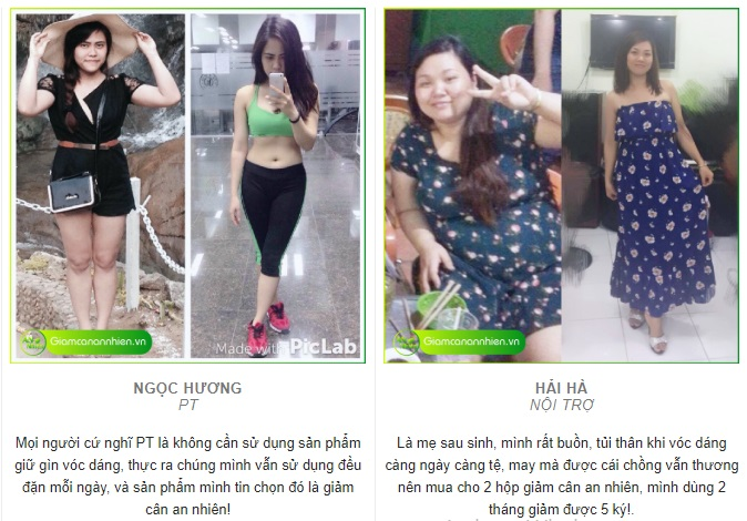Hình ảnh người dùng giảm cân an nhiên