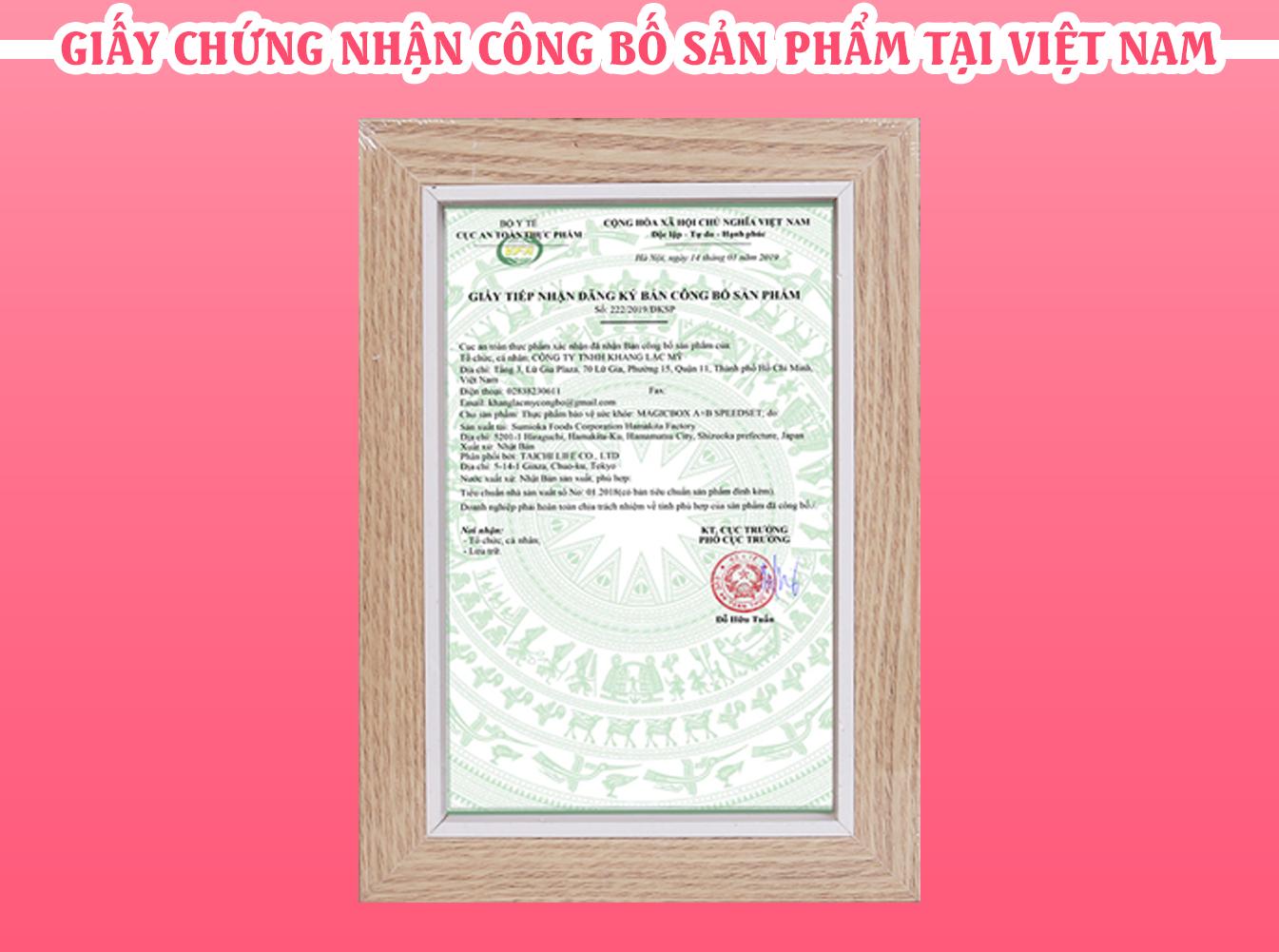 Công bố chứng nhận sản phẩm tại Việt Nam