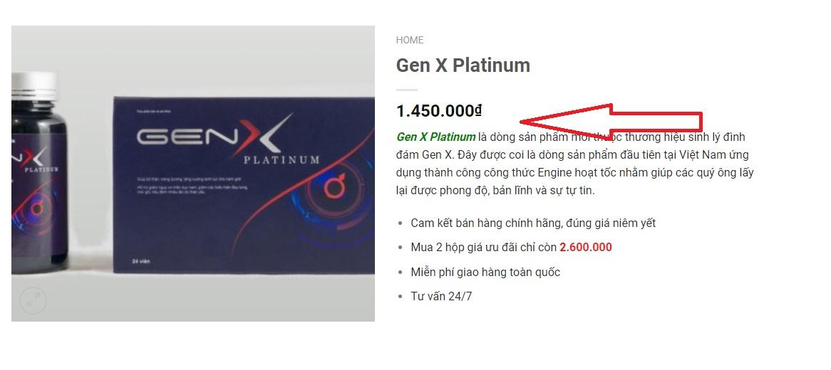 Giá gen x Platinum