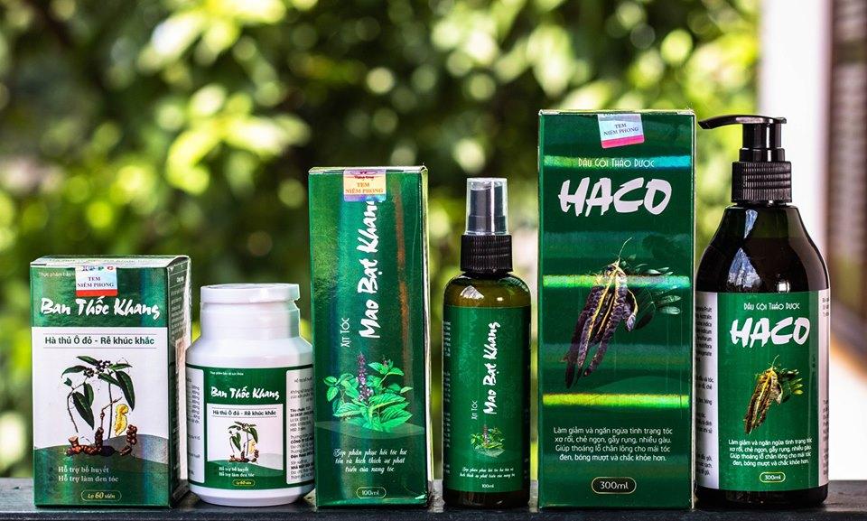 Quy cách đóng gói của 3 sản phẩm tóc Haco