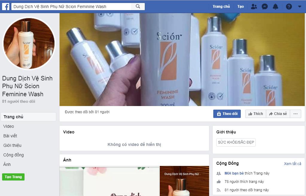 Sản phẩm bán trên facebook