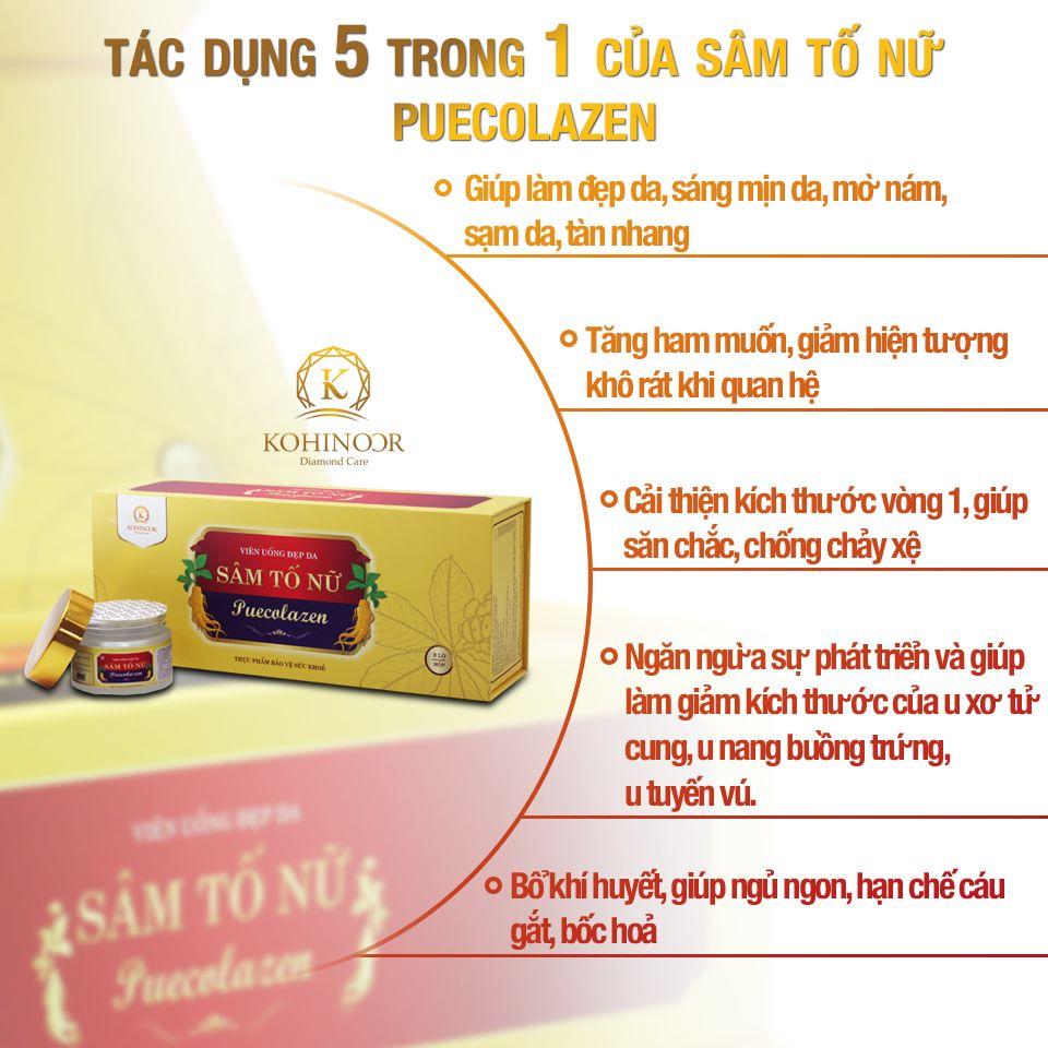 Tác dụng của sâm tố nữ collagen