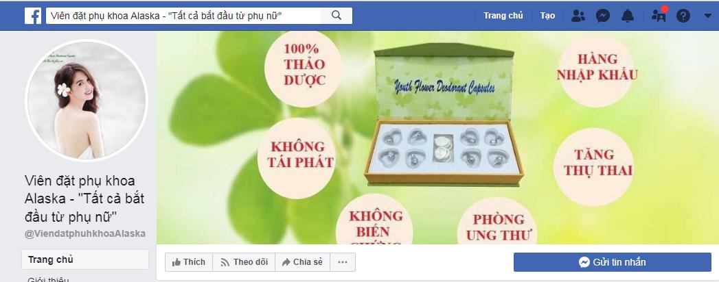 Sản phẩm được bán trên Facebook