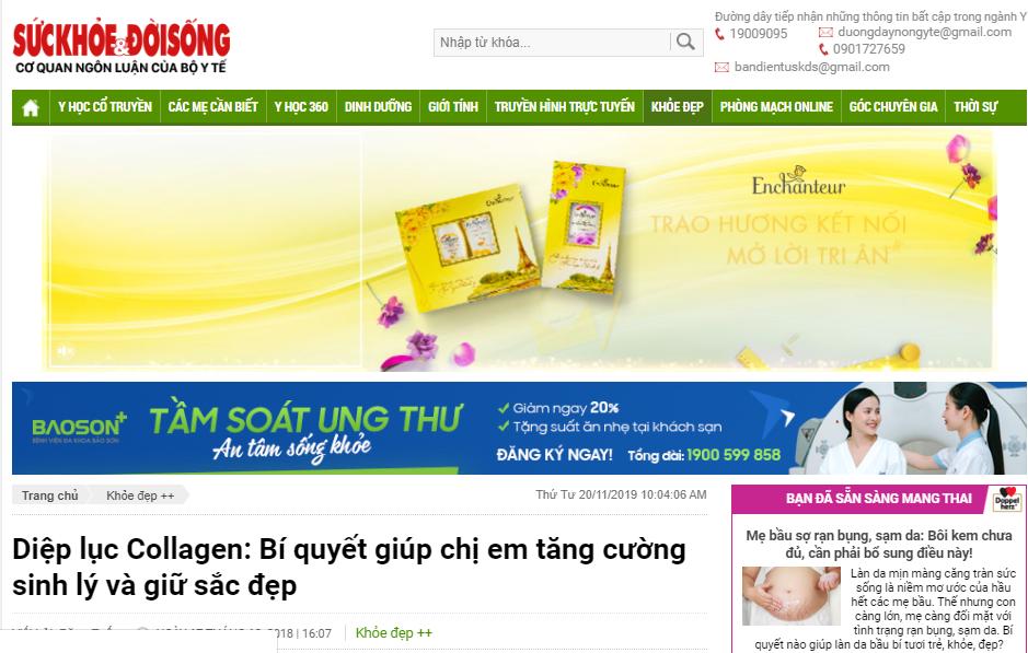 Báo SứcKhỏe&ĐờiSống đánh giá sản phẩm