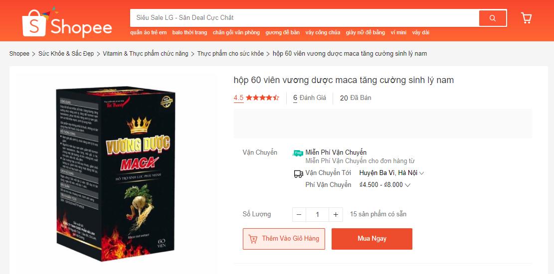 Sản phẩm bán trên shopee
