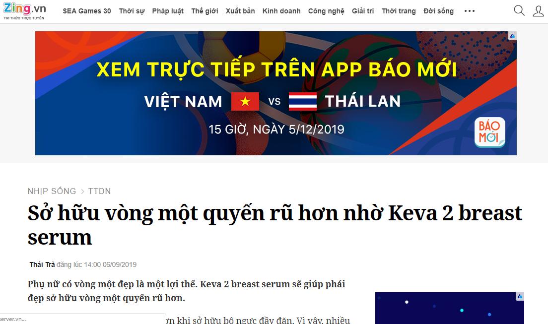 Báo News Zing nói về sản phẩm