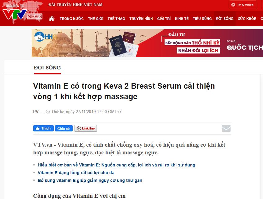 Báo VTV News nói về sản phẩm