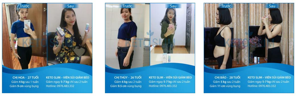 Hình ảnh khách hàng trước và sau khi sử dụng sản phẩm