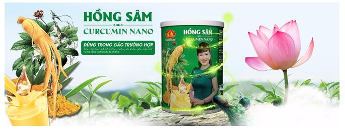 Sản phẩm Hồng Sâm Curcumin Nano