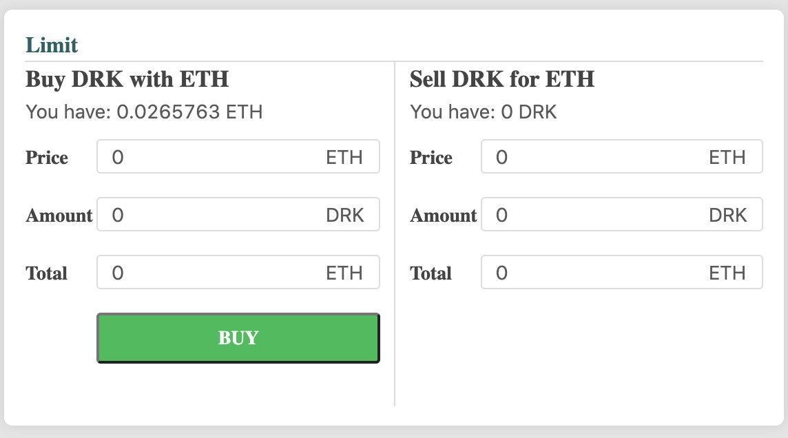 Mua DRK bằng ETH trên sàn DEX